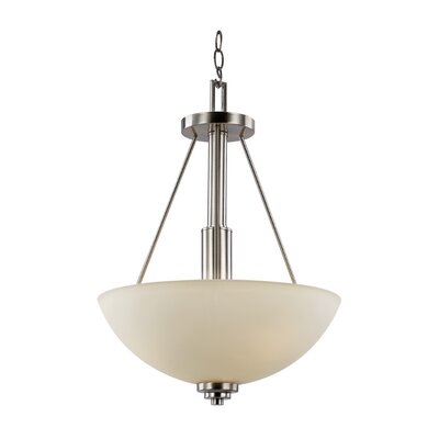 Juli 3-Light Traditional Bowl Pendant Finish: Rubbed Oil Bronze