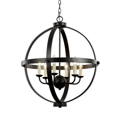Old World Sphere 6-Light Globe Pendant