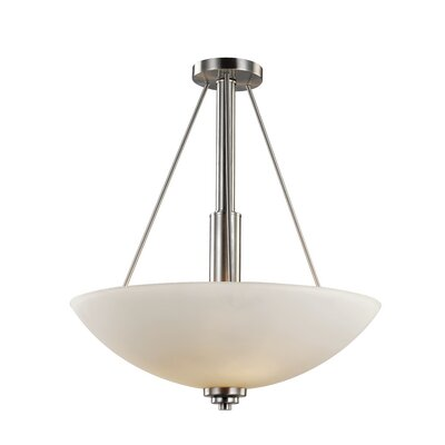 Juli 3-Light Bowl Pendant Finish: Brushed Nickel