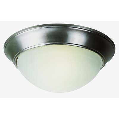 Back to Basics Flush Mount Finish: Brushed Nickel, Size: 6.5 H x 14 W