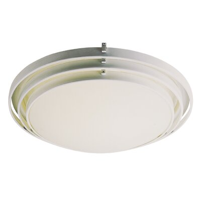 Indoor Fluorescent Flush Mount Finish / Size: White / 5.25 H x 15.75 W