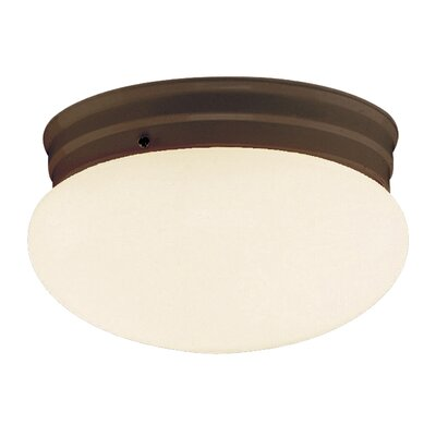 Mushroom 1-Light Flush Mount Finish: Rubbed Oil Bronze