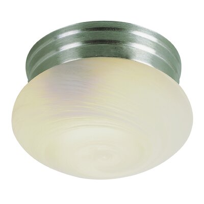 Mushroom 1-Light Flush Mount Finish: Brushed Nickel
