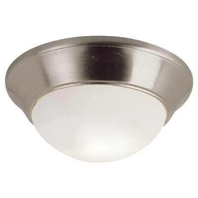 Energy Efficient 2-Light Indoor Flush Mount Size: 6 H x 11 W