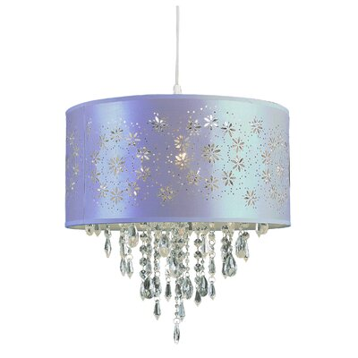 1-Light Drum Pendant Finish: Lilac