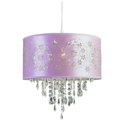 1-Light Drum Pendant Finish: Pink