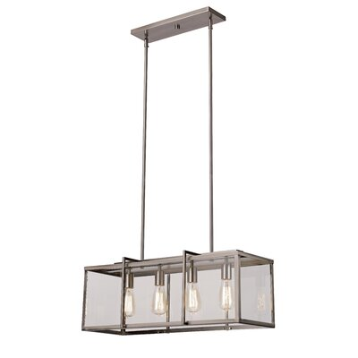 Boxed 4-Light Kitchen Island Pendant Finish: Brushed Nickel