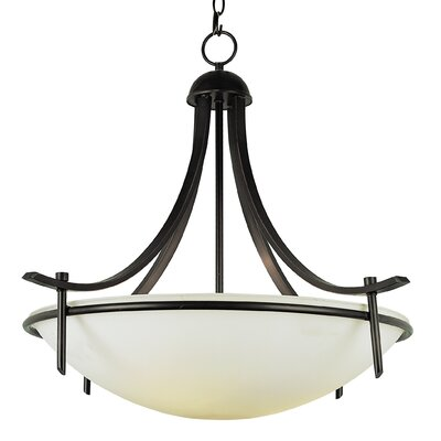 4-Light Inverted Pendant Finish: Rubbed Oil Bronze
