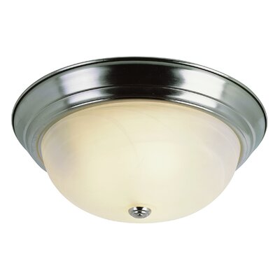 Flush Mount Finish: Brushed Nickel, Size: 6 H x 13 W