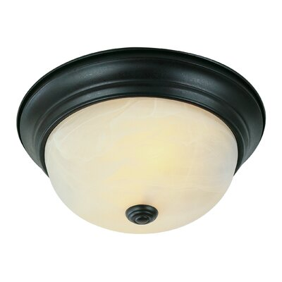 Flush Mount Finish: Rubbed Oil Bronze, Size: 6 H x 13 W