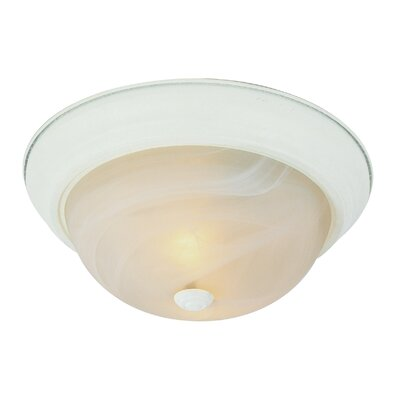 Flush Mount Finish: Antique White, Size: 6 H x 11 W