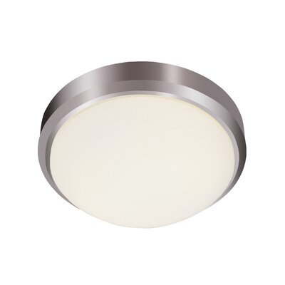 Calantha Flush Mount Finish: Brushed Nickel, Size: 5 H x 13 W