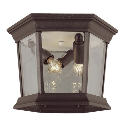 Outdoor 3-Light Flush Mount Finish: Rust
