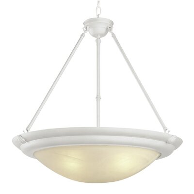 Inverted 3-Light Inverted Pendant Finish: Antique White