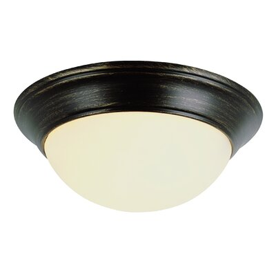 Back to Basics Flush Mount Finish: Rubbed Oil Bronze, Size: 7 H x 16 W