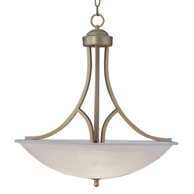 3-Light Inverted Pendant Size: 22 H x 15.75 W