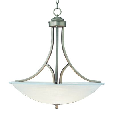 2-Light Inverted Pendant Size: 26 H x 25 W