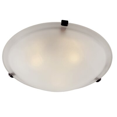 Back to Basics Flush Mount Finish: Rubbed Oil Bronze, Size: 6 H x 20 W