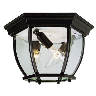 Outdoor Flush Mount Finish: Black, Size: 6.5 H x 13 W