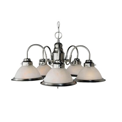 Peatman 5-Light Shaded Chandelier Finish: Brushed Nickel