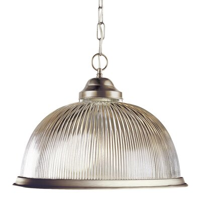 Back To Basics 1-Light Bowl Pendant Finish: Brushed Nickel
