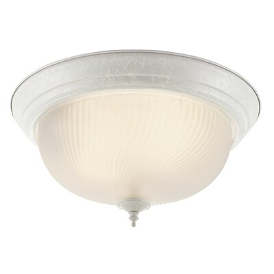 Flush Mount Finish: White, Size: 6.5 H x 11 W