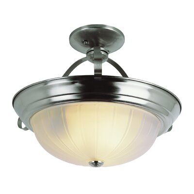 Semi Flush Mount Finish: Brushed Nickel, Size: 11 H x 13 W