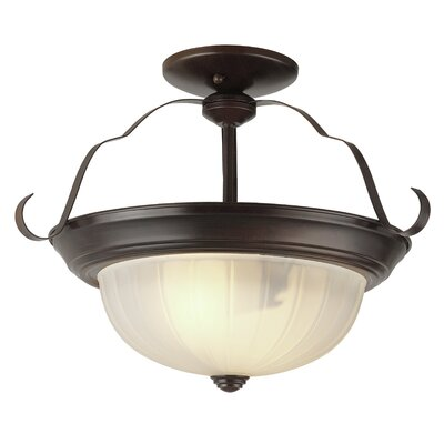 Bowl Semi Flush Mount Finish: Rubbed Oil Bronze