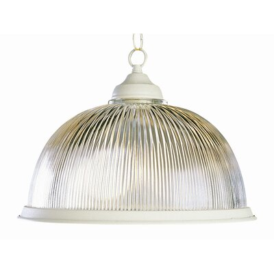 Back To Basics 1-Light Bowl Pendant Finish: Antique White