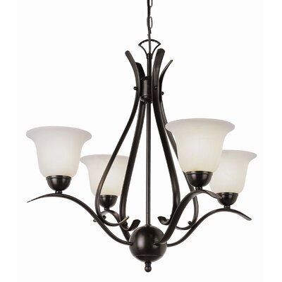 Contemporary 4-Light Semi Flush Mount Finish: Rubbed Oil Bronze