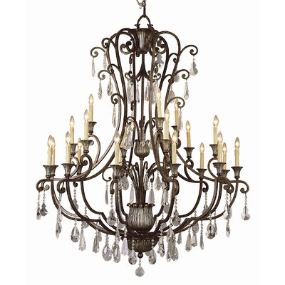 Crystal Flair 21-Light Crystal Chandelier