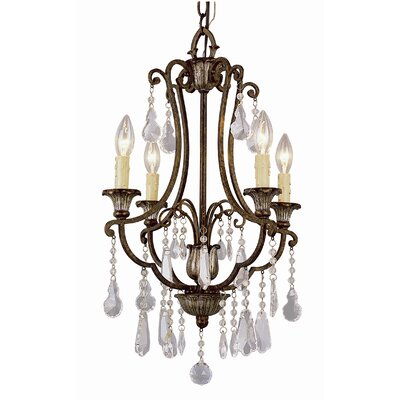 Crystal Flair 4-Light Crystal Chandelier