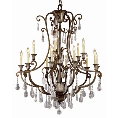 Crystal Flair 15-Light Crystal Chandelier