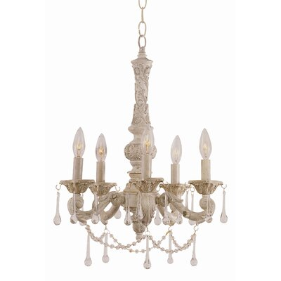 Crystal Flair 5-Light Semi Flush Mount