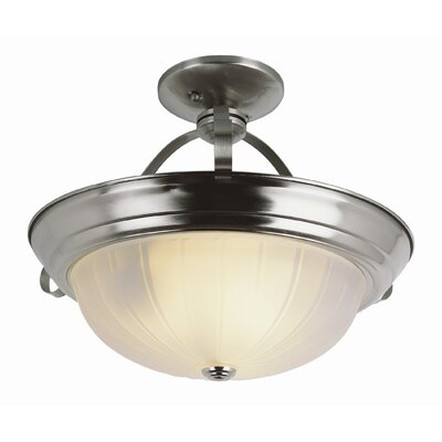 Bowl Semi Flush Mount Finish: Brushed Nickel