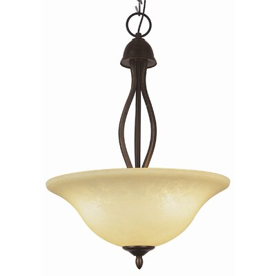3-Light Inverted Pendant Finish: Rubbed Oil Bronze