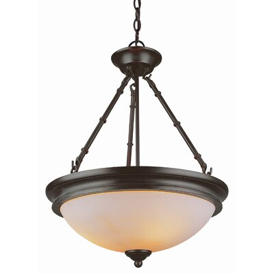 Olde World 3-Light Inverted Pendant Finish: Rubbed Oil Bronze