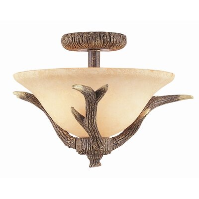 Burswood 2-Light Semi Flush Mount