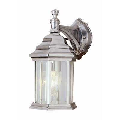 Outdoor Wall Lantern with Clear Beveled Glass Shade