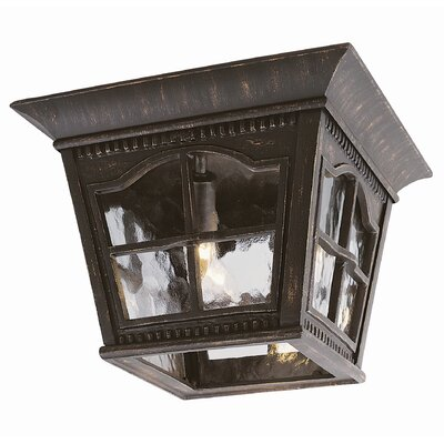Outdoor 3-Light Flush Mount Finish: Antique Rust