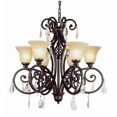 Crystal 6-Light Shaded Chandelier