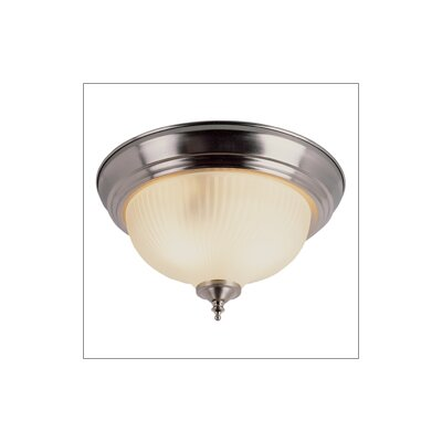 Flush Mount Finish: Brushed Nickel, Size: 6.5 H x 13 W