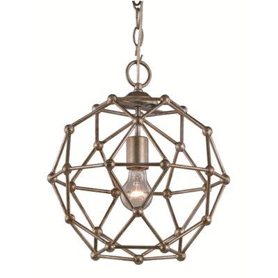 1 Light Globe Pendant Finish: Antique Silver Leaf
