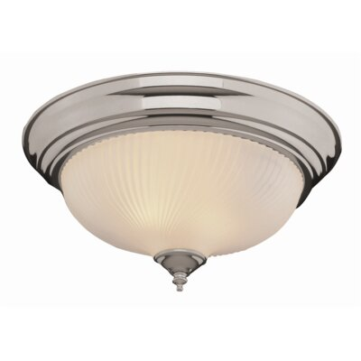 2-Light Metal Flush Mount