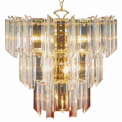 Back to Basics 10-Light Crystal Chandelier