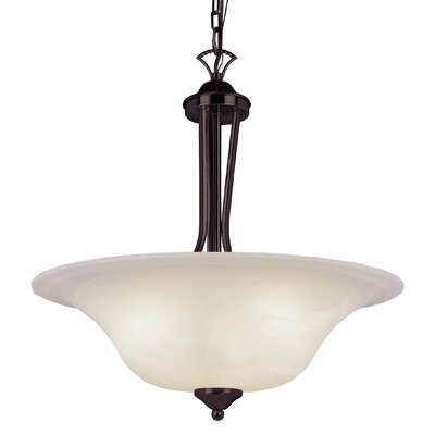 Contemporary 3-Light Inverted Pendant Finish: Rubbed Oil Bronze