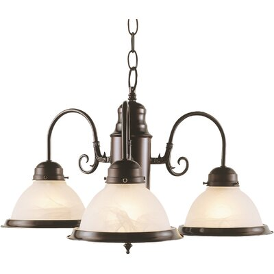 Back To Basics 3-Light Semi Flush Mount Finish: Brushed Nickel