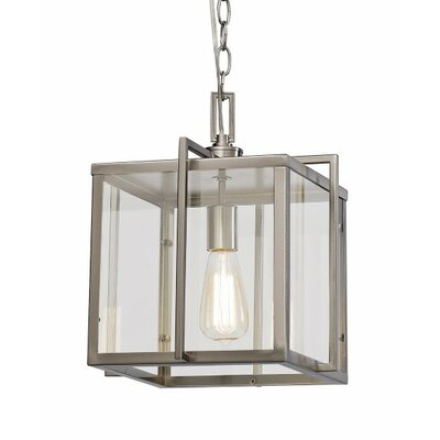 Boxed 1-Light Foyer Pendant Finish: Brushed Nickel, Size: 15 H x 12 W