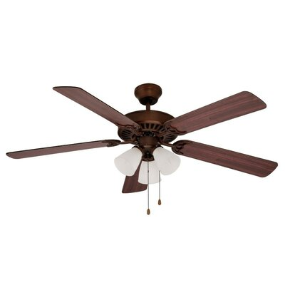 52 Tempa Breeze 5-Blade Ceiling Fan Finish: Oil Rubbed Bronze with Walnut/Rosewood Blades