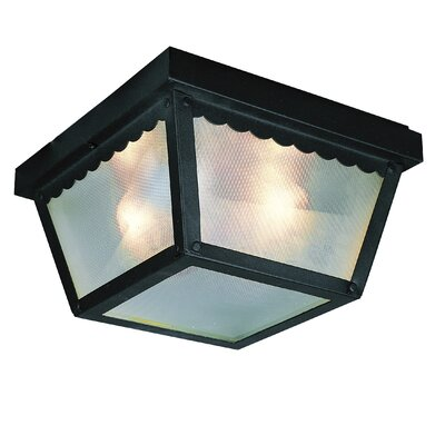 Outdoor 1-Light Flush Mount Finish: Black